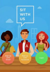 "Screenshot of ""Sit With Us"" app"