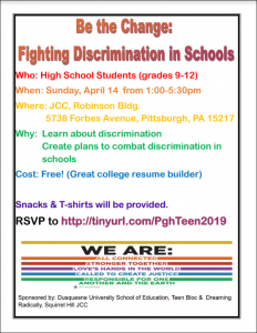 discrimination flyer