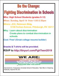 discrimination flyer